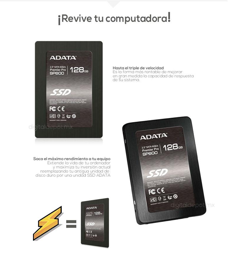 ADATA-Unidad en Estado Solido-SSD-SP600-potencia-120GB-128GB-mas rapidez-fotos