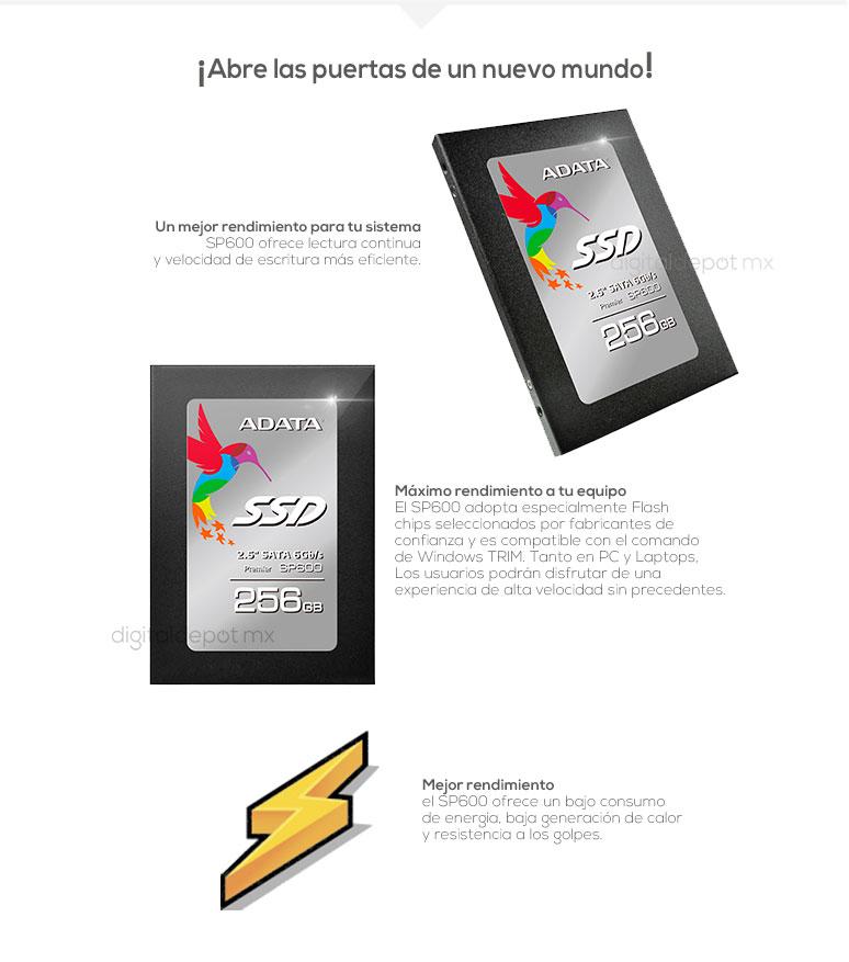 ADATA-Unidad en Estado Solido-SSD-SP600-potencia-240GB256GB-mas velocidad-fotos