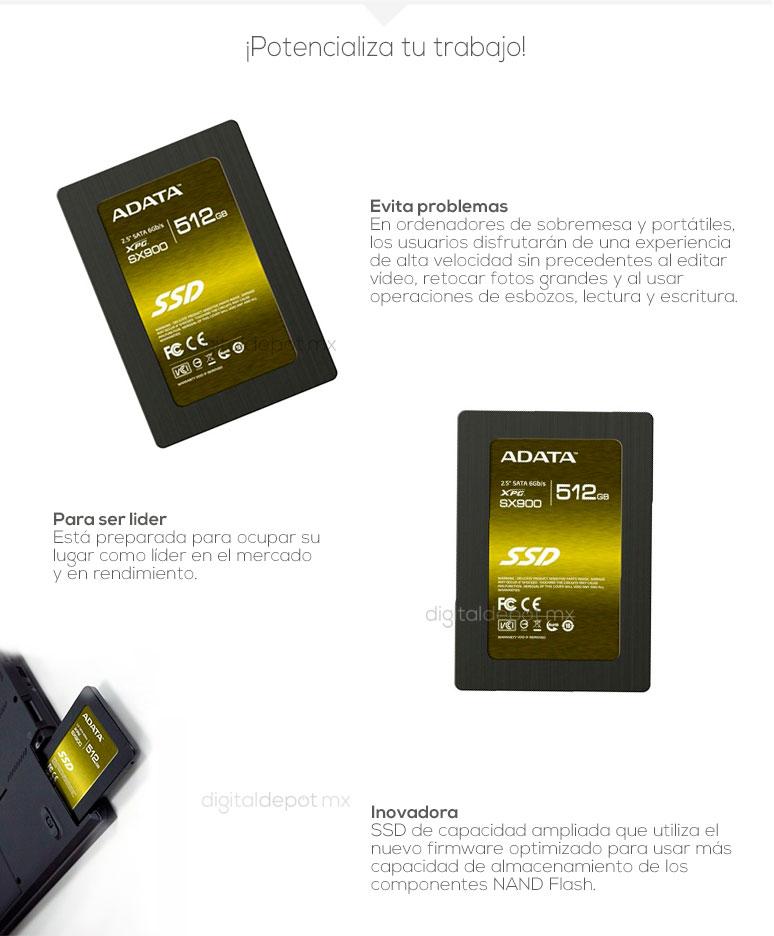ADATA-Unidad en Estado Solido-SSD-SX900-potencia-480GB-512GB-mas rapidez-fotos