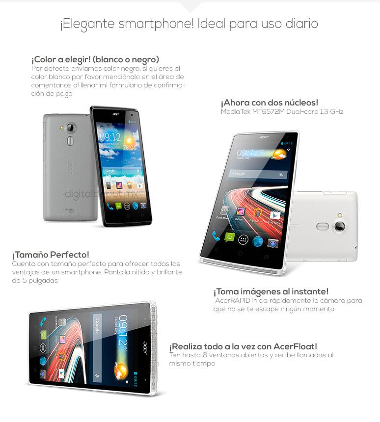Acer-Celular-Smarthphone- Liquid Z5-5 pulgadas-MT6572M-4Gb-fotos