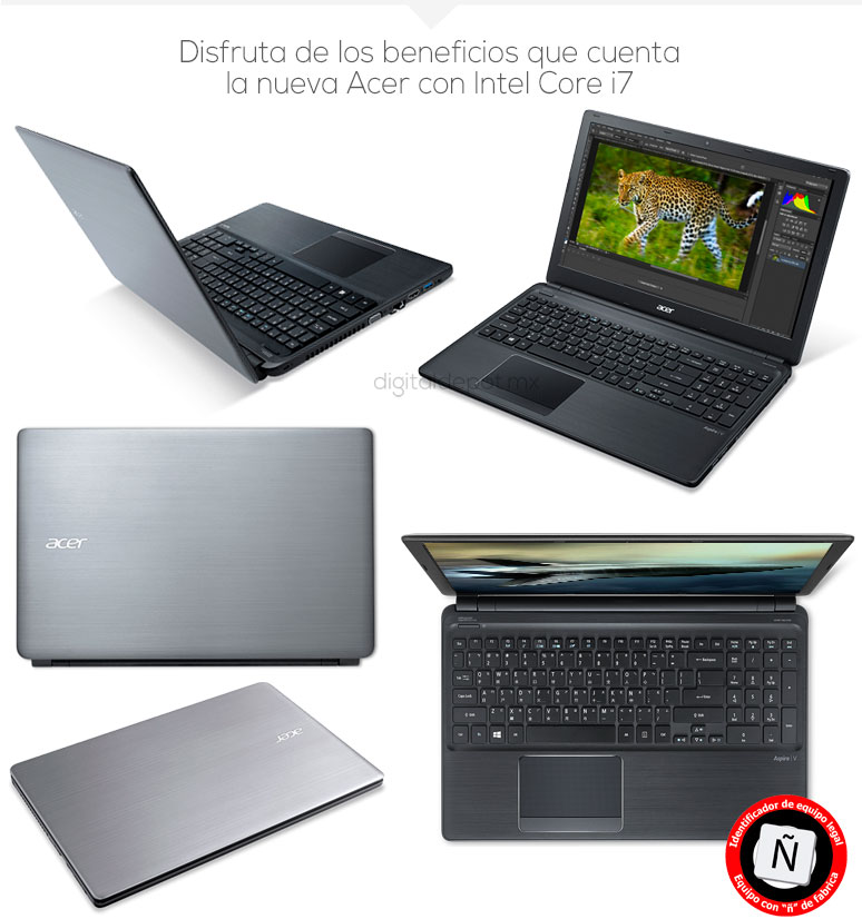 Acer-Laptop-Notebook-Aspire V5-Gamer-Intel Core i7-X4-8Gb Ram-1Tb DD-fotos