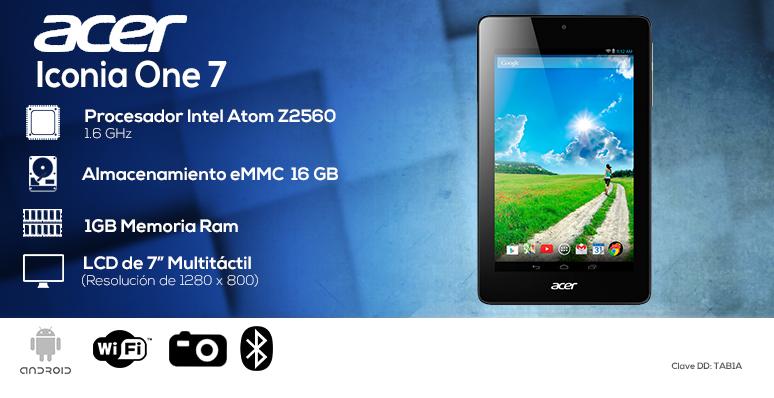 Acer-tablet-tableta-iconia one7-azul-intel Atom Z2560-16GB eMMC-1GB Ram