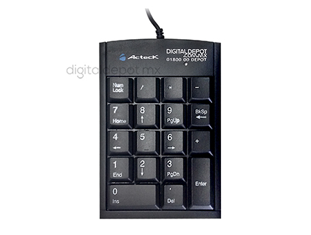ActecK-teclado numerico-keypad-KP300-cable retractil-USB 2.0-Plug And Play-imagen-destacada