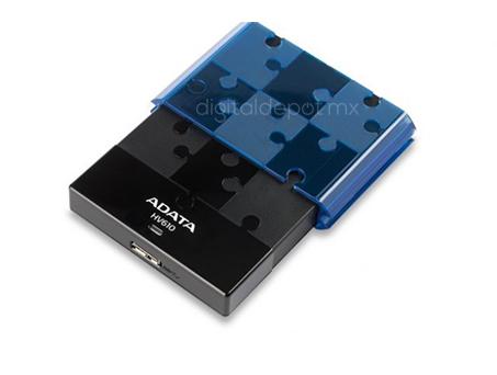 Adata-enclousure-carcaza-HV610-azul-usb 3.0-transmision LED-rompecabezas-imagen-destacada-3