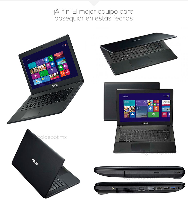Asus-Laptop-Netbook-X451MA-barata-Intel N2815-4Gb Ram-1TB DD-fotos