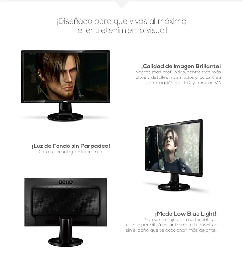 BenQ-Monitor-Pantalla-GW2265-Ahorrador-LED-Full HD-Tecnología Low Blue Light-fotos