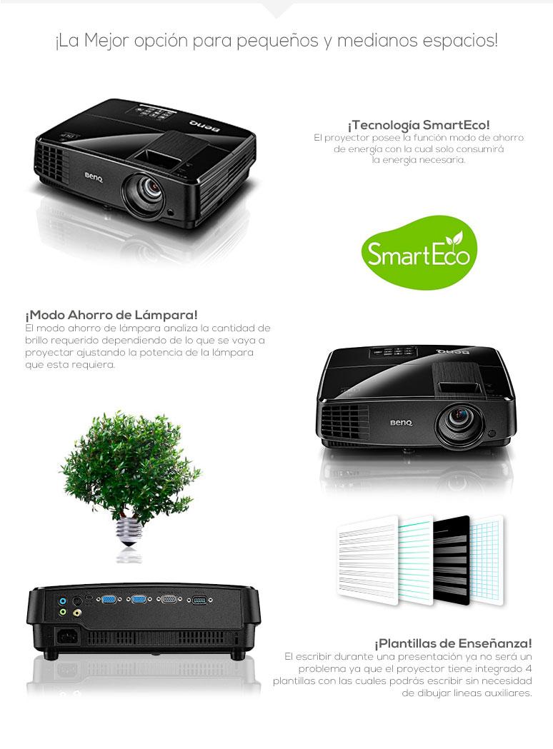 BenQ-Proyector-Cañon-MS504-Ahorrador-Excelente resolución-Altavoz incorporado-Facil Mantenimiento-fotos