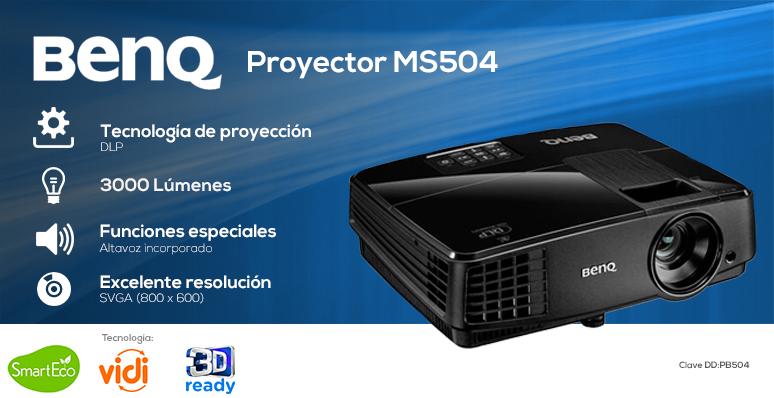 BenQ-Proyector-Cañon-MS504-Ahorrador-Excelente resolución-Altavoz incorporado-Facil Mantenimiento