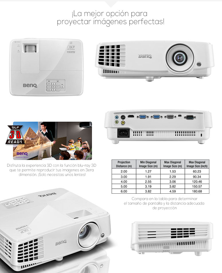 Benq-Proyector-Cañon-MS524-videoHD3D-3000lumens-lamparalargaduracion-8Mproyeccion-fotos