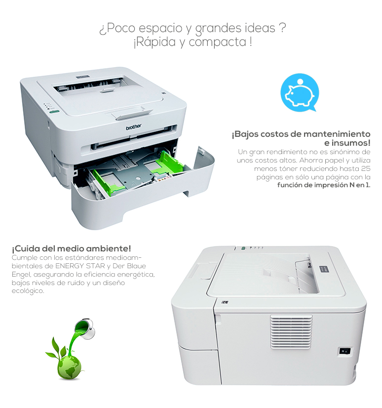 Brother-Impresora-Printer-HL-2135w-compacta-tecnologia laser-Alta resolucion-Wireless-fotos