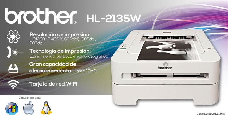 Brother-Impresora-Printer-HL-2135w-compacta-tecnologia laser-Alta resolucion-Wireless