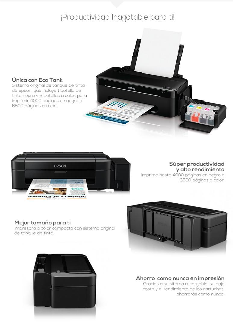 Epson-impresora-printer-xpress-l300-rapida-economica-rellenado facil-alto rendimiento-fotos