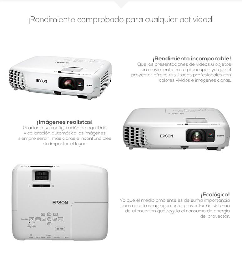 Epson-proyector-Cañon-powerlite-x24-nitidez-USB 3 en 1-Lector USB-Conexion inalambrica-fotos