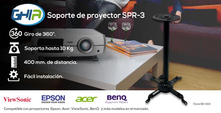 GHIA-soporte para proyector SPR3-Girable