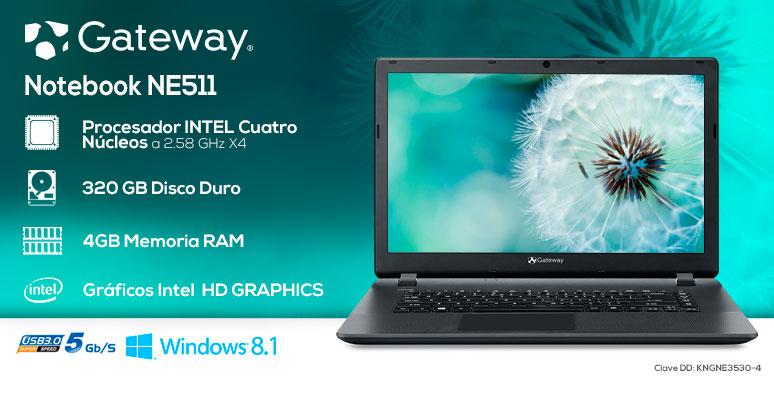 Gateway-Laptop-notebook-ne511-veloz-IntelX4-4GBRAM-320GBDD