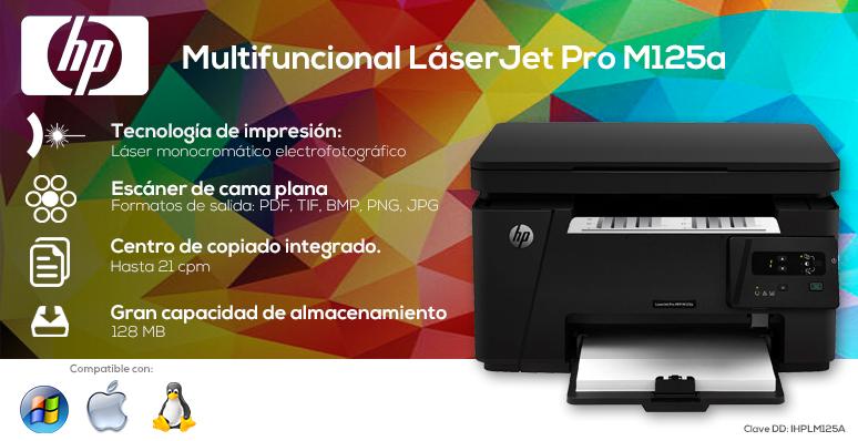 HP-impresora-printer-LaserJet Pro-Multifuncional-Laser-Escaner cama plana-128 MB de almacenamiento