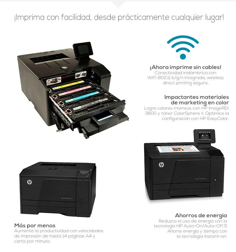 HP-impresora-printer-LaserJet Pro-Multifuncional-Laser-WiFi-Colores intensos-fotos