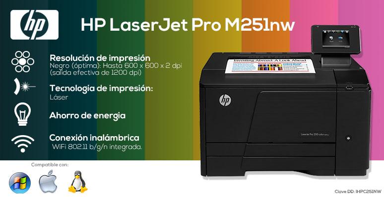 HP Impresora Multifuncional LaserJet Pro M251nw