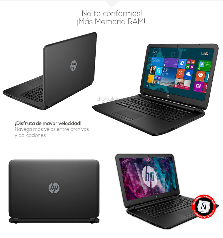 Hp-Laptop-Notebook-Pavilion 14-basica-AMD EI-2100 APU-16Gb Ram-500Gb DD-fotos