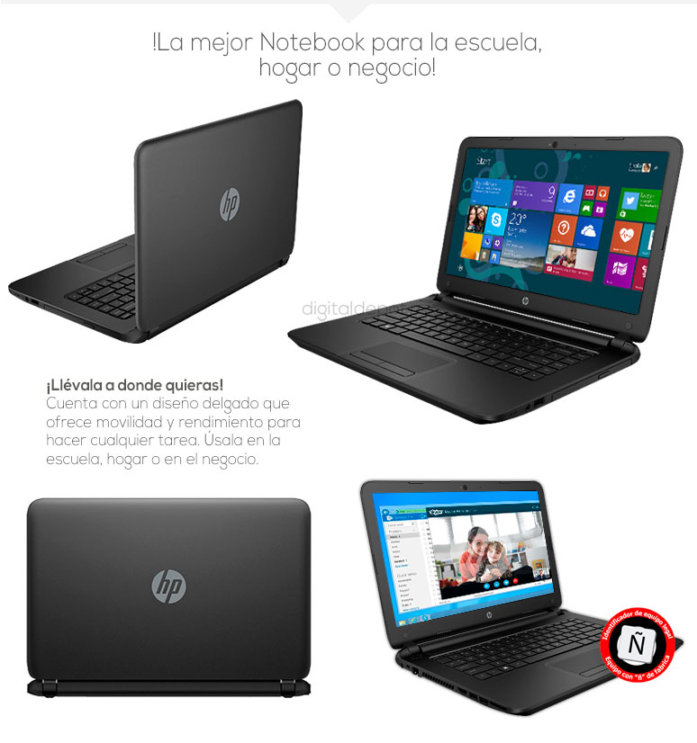 Hp-Laptop-Notebook-Pavilion 14-basica-AMD EI-2100 APU-4Gb Ram-500Gb DD-fotos