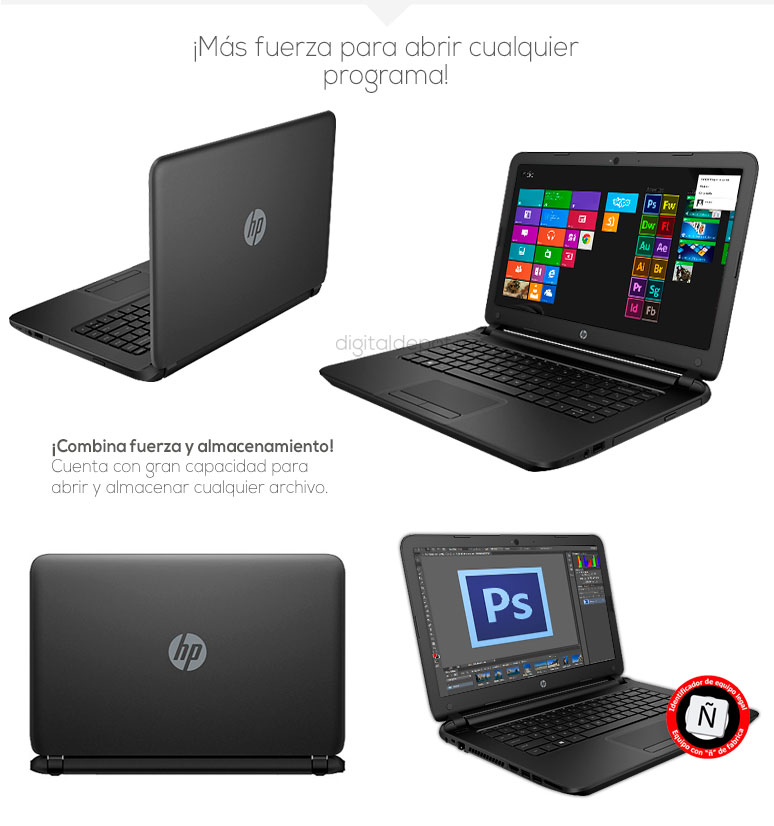 Hp-Laptop-Notebook-Pavilion 14-basica-AMD EI-2100 APU-6Gb Ram-500Gb DD-fotos