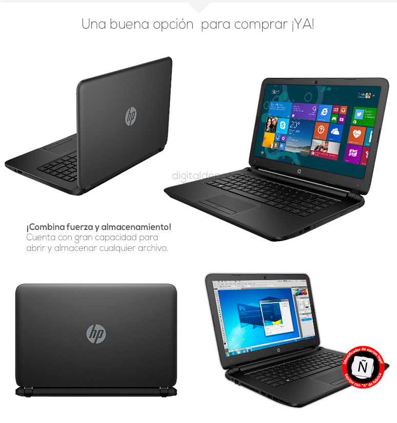Hp-Laptop-Notebook-Pavilion 14-basica-AMD EI-2100 APU-8Gb Ram-500Gb DD-fotos