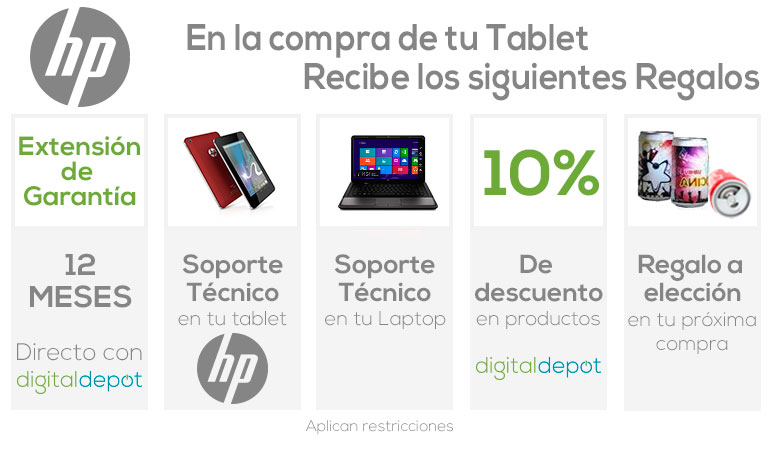 Hp-tablet-tableta-Slate 7-roja-Cortex A9 Dual Core-1GB DDR3 Ram-8Gb DD-cupon