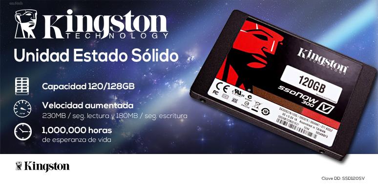Kingston-Unidad en Estado Solido-SSD-SSDNow V300-potencia-120128GB-230MB lectura