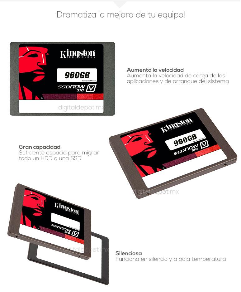 Kingston-Unidad en Estado Solido-SSD-ssdnow310v-potencia-960GB-1TB-mas velocidad-fotos