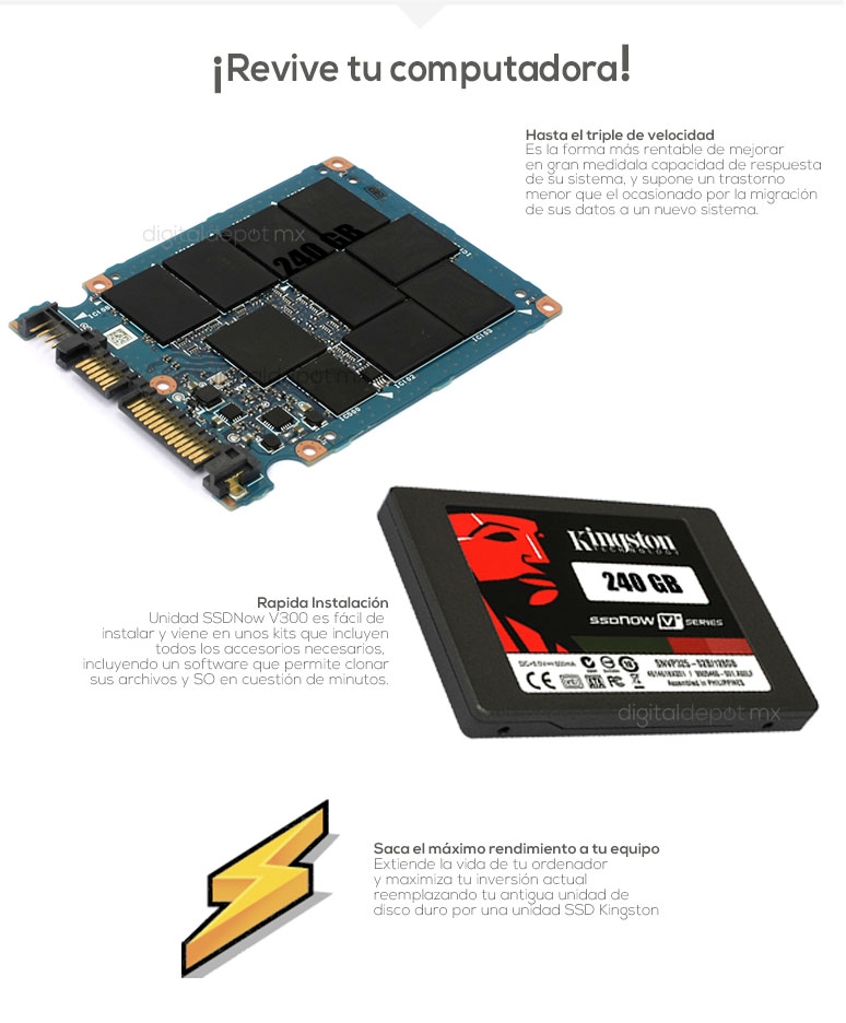 Kingston-Unidad en Estado Solido-SSD-ssdnowv-potencia-240GB256GB-mas velocidad-fotos