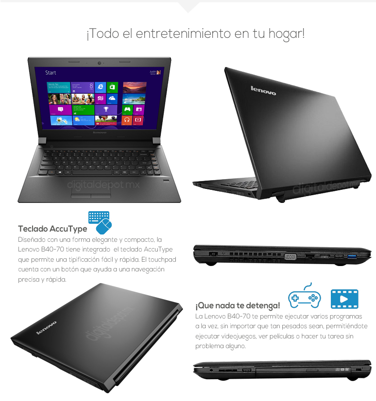 Lenovo-Laptop-Notebook-B40-70-Intel Core i3-4GB Ram-500GB DD-fotos
