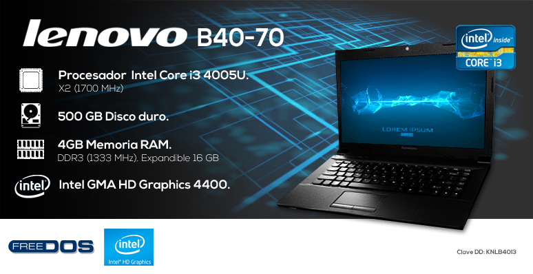 Lenovo-Laptop-Notebook-B40-70-Intel Core i3-4GB Ram-500GB DD