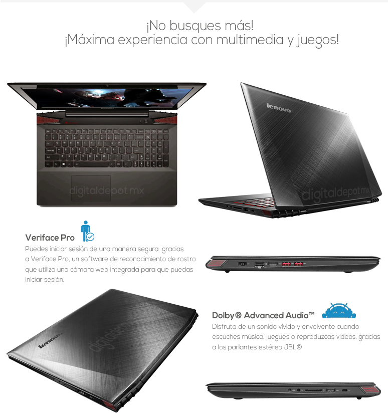 Lenovo-Laptop-Notebook-Y50-70-Gamer-Intel Core i7-8GB Ram-1TB DD-fotos