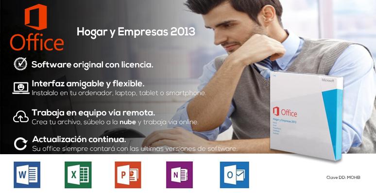 Office 2013-Hogar y empresas-Sofware original-con licencia-professional-actualizaciones continuas