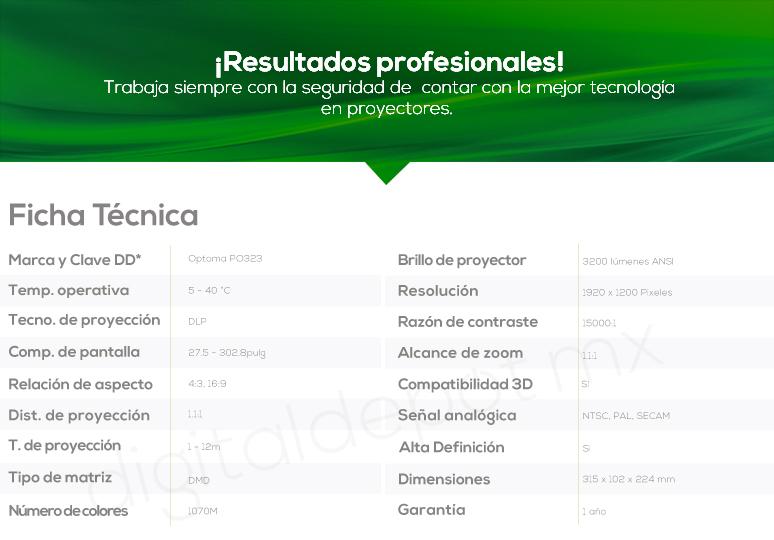 Optoma-Proyector-Cañon-BR323-Profesional-Conectividad Inalámbrica-Larga Durabilidad-Lente de camara inteligente-caracteristicas