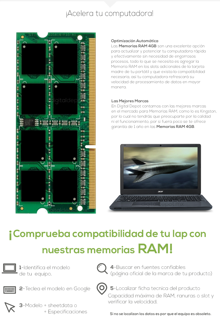 Ram-Memoria Ram-4GB-DDR3-SODIMM-ASINT-SAMSUNG-HYNIX-fotos