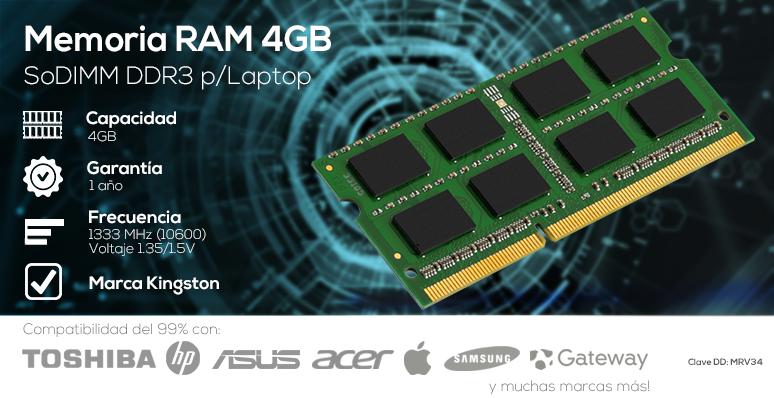 Ram-Memoria Ram-4GB-DDR3-SODIMM-ASINT-SAMSUNG-HYNIX