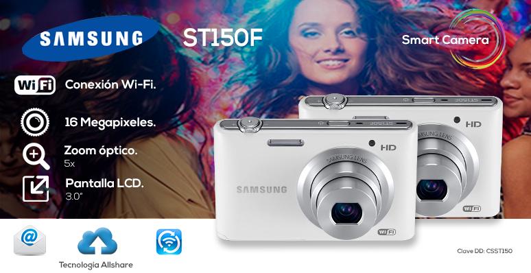 Samsung-Camara digital-fotografia-video-ST150F-Wi-fi-16 megapixeles-LCD