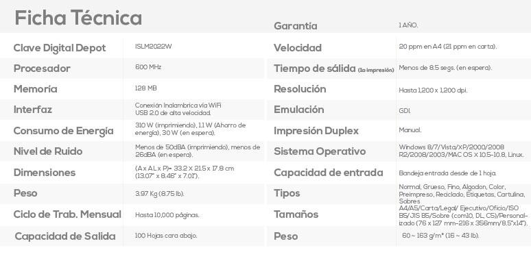 Samsung-Impresora-Printer-SL-M2022W-Monocromatica-Laser-conexion Wifi-caracteristicas