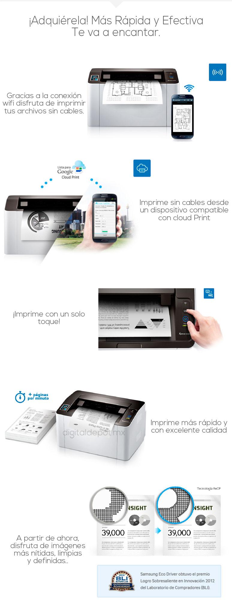 Samsung-Impresora-Printer-SL-M2022W-Monocromatica-Laser-conexion Wifi-fotos