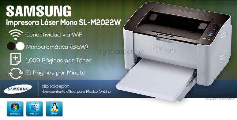 Samsung-Impresora-Printer-SL-M2022W-Monocromatica-Laser-conexion Wifi