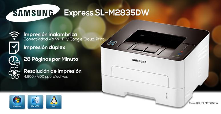 Samsung-Impresora-Printer-SL-M2835DW-conexion inalambrica-Wifi-Laser-rapida