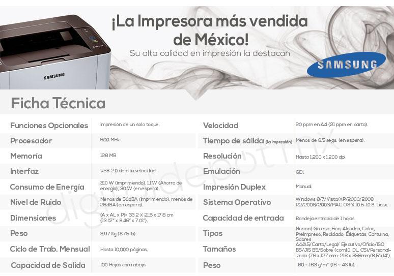 Samsung-Impresora-Printer-Xpress-Rellenable-Laser-BN-caracteristicas