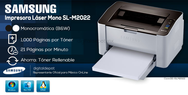 Samsung-Impresora-Printer-Xpress-Rellenable-Laser-BN