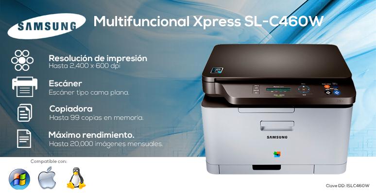 Samsung-Impresora-Printer-Xpress-SL-C460W-Multifuncional-Conectividad Inalambrica- Maximo rendimiento-Alta resolucion