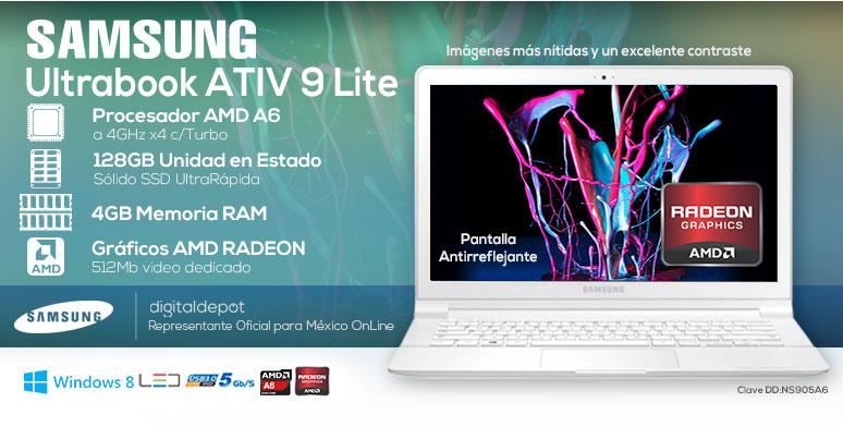 Samsung-Laptop-Ultrabook-ATIV9LITE-ligera-AMDA6-4GBRAM-128SSD