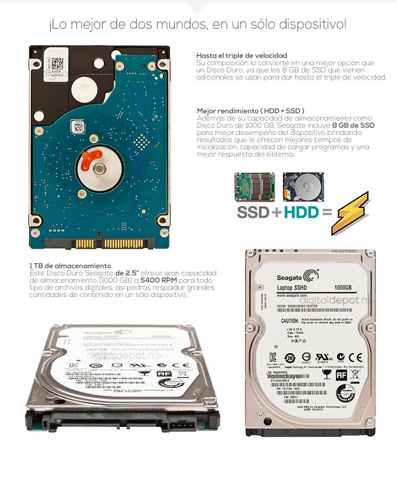 Seagate-disco duro hibrido-DD-IEJI64-501-velocidad-1TB DD-8GB SSD-5400 RPM-fotos