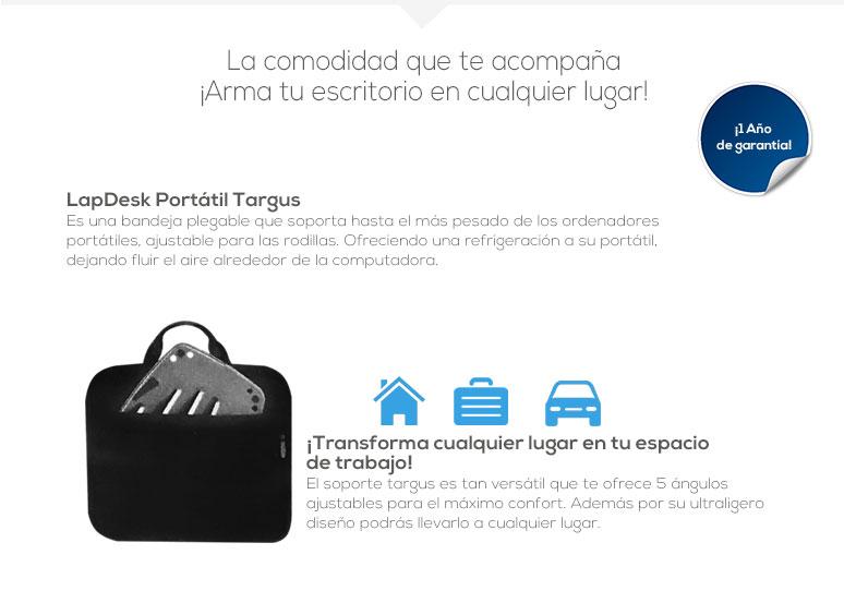 Targus-base enfriadora laptop-portable LapDesk-desplegable-facil instalacion-canales de ventilacion-antideslizante-fotos