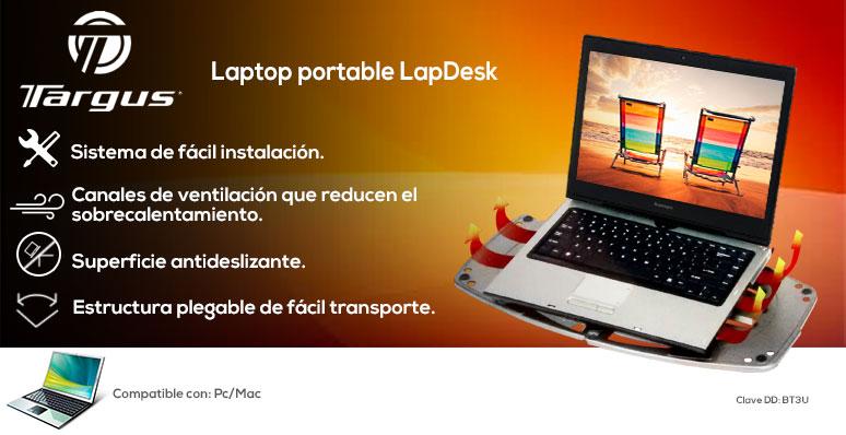 Targus-base enfriadora laptop-portable LapDesk-desplegable-facil instalacion-canales de ventilacion-antideslizante