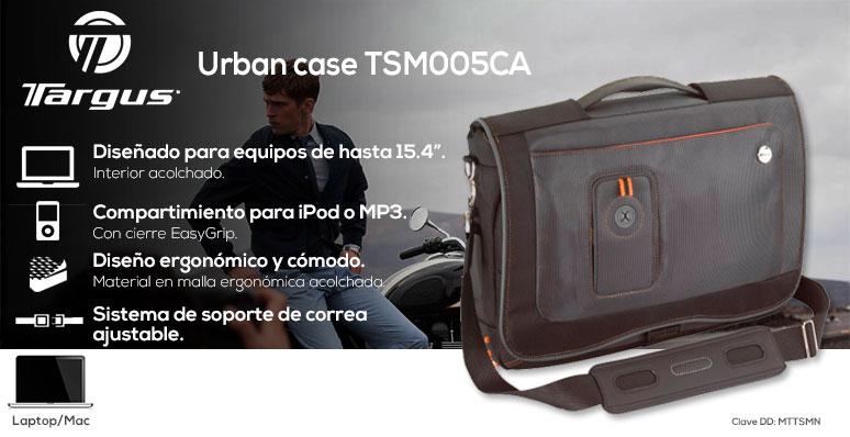 Targus-maletin laptop-Urban case-urbano-equipos hasta 15.4-compartimientos-comodo